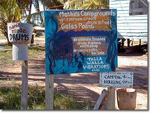 signs in the Glaes Point Village