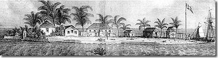 View of Fort George, In the Harbor of Honduras - 23 March, 1828 - Pickstock