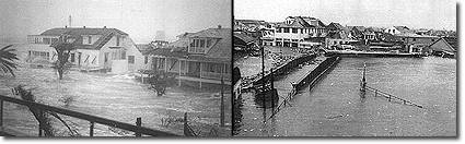 During and after Hurricane Hattie, October 31, 1961
