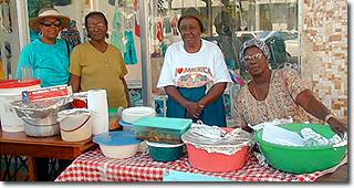 Street vendors in Belize City
